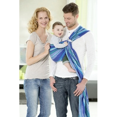 AZ 5060235 - Fascia porta bebe Ring Sling Laguna - della Amazona Baby - photo happy family
