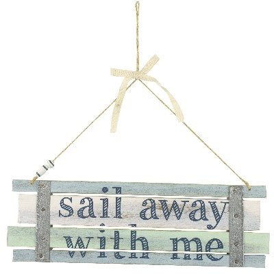 NA 55860 - Decoro pensile Sail Away with Me - 26x8 cm