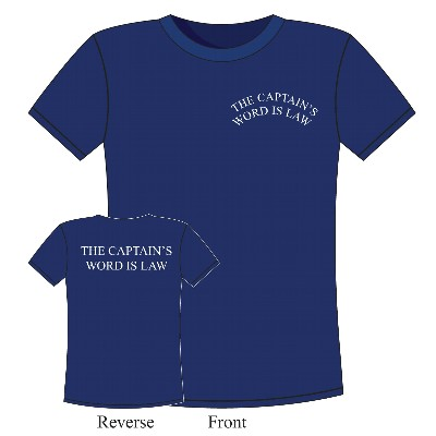 NA 6374M - T-Shirt The Captain's Word is Law in cotone blu - Taglia M