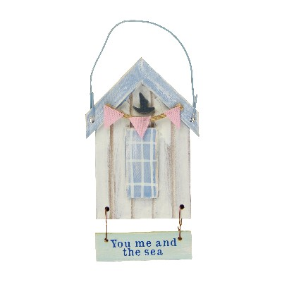 NA 52675 - Cabina da spiaggia in legno You me and the sea - H tot 12,5 cm