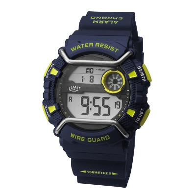 NA 96796 - Orologio digitale Wire Guard - Blu/lime - Ø 49 mm