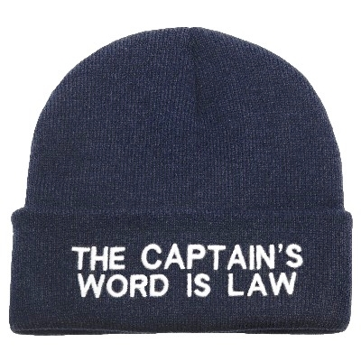 NA 6319 - Berretto THE CAPTAIN'S WORD IS LAW